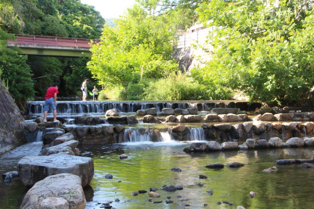 箕面市で川遊びが出来る公園。箕面西公園(箕面川親水公園)