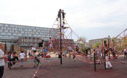 茨木市の立命館大学内にある人気の公園、「岩倉公園」で遊んで来ました。