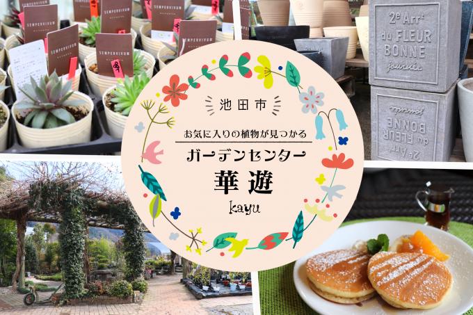 池田市にある大型園芸店「ガーデンセンター華遊」へ行って来ました。