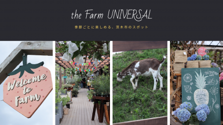 季節ごとに楽しめる、茨木市の子連れで行けるスポット【the Farm UNIVERSAL】